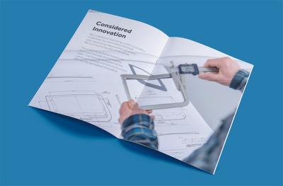 Design a 16pg  brochure / catalogue / magazine / lookbook