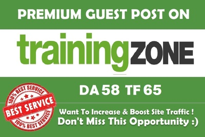 Write & publish a guest post on TrainingZone.co.uk Dofollow