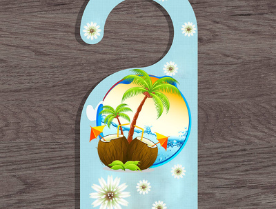 Design a professional and eye catching door hanger