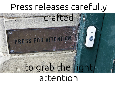 Write a compelling, attention-grabbing press release (500 words - as per)