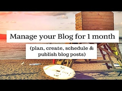 Manage your blog for 1 month (plan, create, schedule & publish posts)