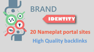 Build your brand identity on 20 High DA nameplate portal/portfolio sites