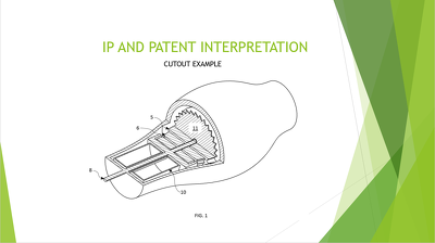 Create a patent drawing from a 3D model