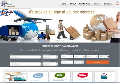 Design web application  software for companies that handle courier services
