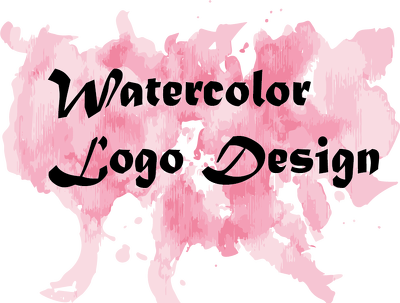 Watercolor logo design with Favicon
