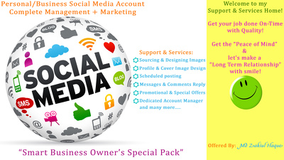 Create+Manage+Market Your 3 Social Media Accounts for 1 Whole Month