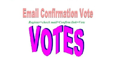 200 registration with email confirmation votes