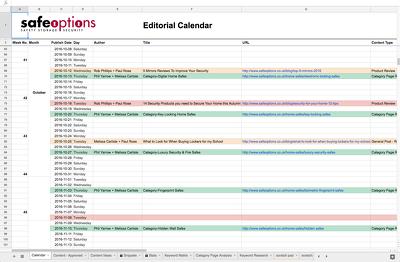 Create a Content Calendar - 3 months
