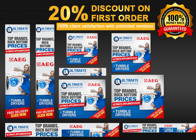 Design a Creative  Professional Banner Ad Set (8 sizes) Google Advertising in 24hrs
