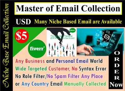 Scrape 1,00,000 niche based Clean/Active Email List for your business