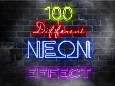 Replicate Your Text Or Logo In Neon Style 100 Different Effect