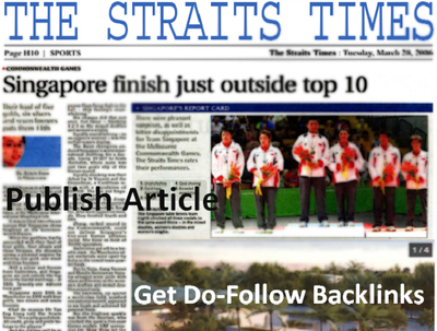 I Will Write and Publish Article On Singapore News