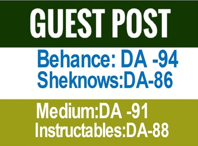 Publish Guest Post on Behance, Medium, Sheknows(Cheap Rate)