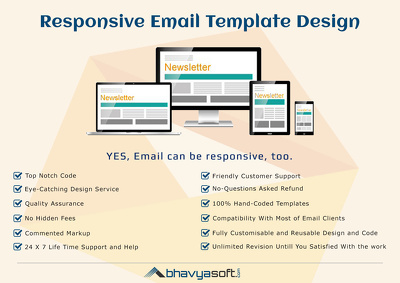 Convert email newsletter design into responsive HTML code