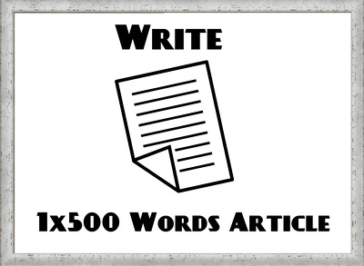 Write a 500-word blog post (article) on a topic of your choice