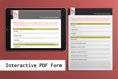 Design an interactive PDF form - fillable and editable