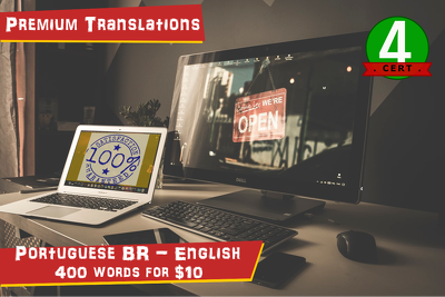 Professionally translate 400 words from Brazilian Portuguese into English
