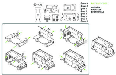Make drawing for assembly manuals