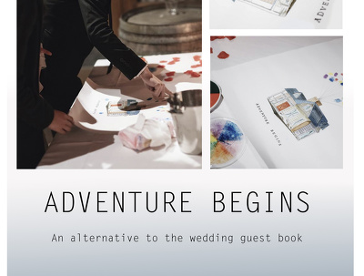 Design a personalised alternative to the wedding guest book