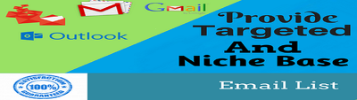 Provide niche based mail list any country