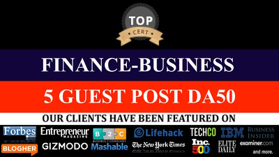 5 GUEST POSTS ON Finance Money Business  Insurance NICHE DOFOLLOW LINKS DA 20 -DA50