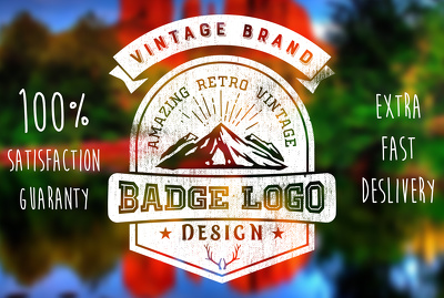 Design your amazing retro and vintage logo professionally