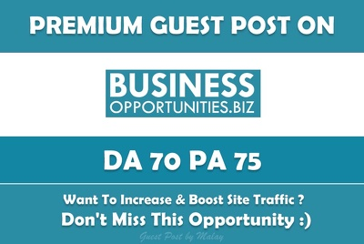 Write & Publish Guest Oost on Business Opportunities, Business-opportunities.biz