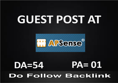 I will write and publish an excellent article on Apsense.com DA 54 and Do follow