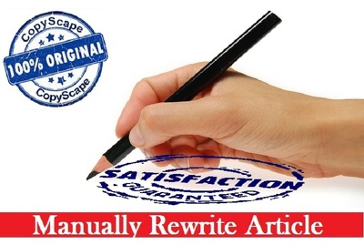 I will do Rewrite & Copyscape any Article, Blog or Web Content