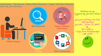 Provide 2 hrs of Admin/Data-Entry/Documents Conversion & Formatting/Typing Support
