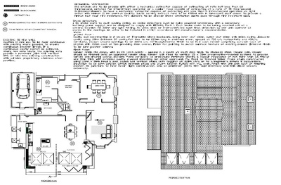 Provide a complete set of structural plans for rear or side extension for BLDG REGS