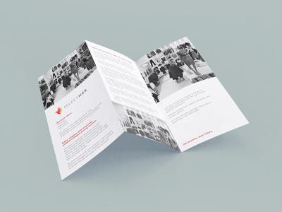 Design an accordion fold brochure for