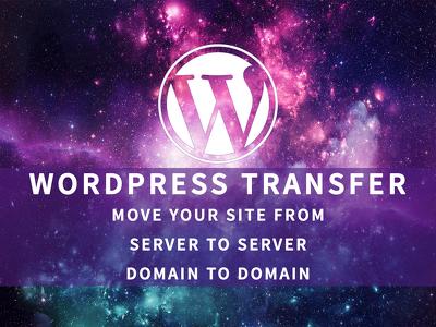 Transfer or migrate your WordPress website.