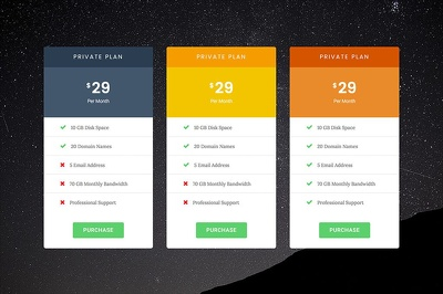 Create attractive Pricing table using html css Bootstrap