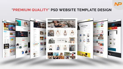 Design *Premium Quality* Website Homepage / Landing Page PSD Template