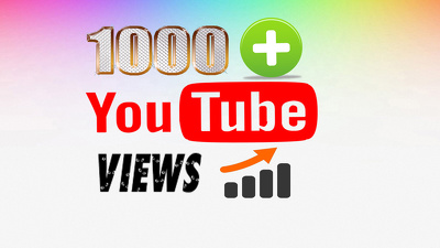 *****1000 +  Highly Safe views to your Youtube video *****