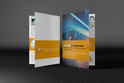 Design brochure with Unlimited Concepts, A3, A4, A5, and A6 size