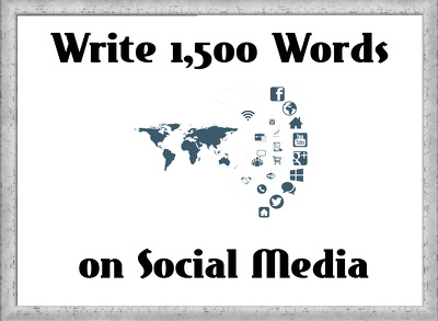 Write a 1,500 Words Article on Social Media (Marketing)