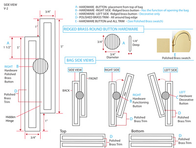 Create a handbag hardware design