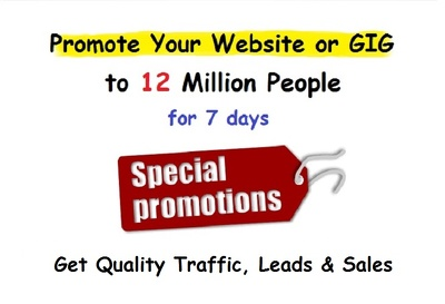 Promote your Website or Hourlie to 12 Million People, Daily
