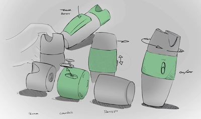Produce concept sketches and renderings of your ideas