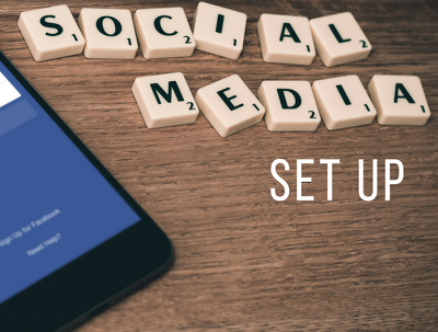 Set up 3 social media platforms for you in one day