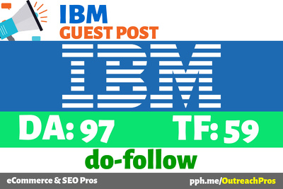 Publish guest post on IBM | IBM Blog | Dev Blog - DA97 TF59