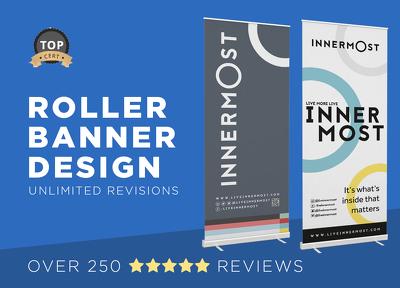Design a professional roller banner