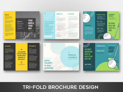 Create a stunning tri-fold brochure & leaflet design with unlimited revisions