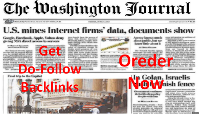 Write and  publish Article On Washington News  Separate Page