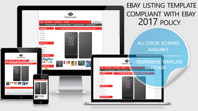 Design a responsive professional eBay listing auction template 2017 compatible