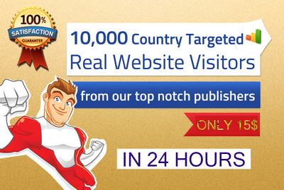 Deliver TARGETED 10,000 real human visitors to your website