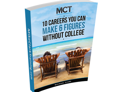 Provide an e-book on 10 careers to make 6 figures without college
