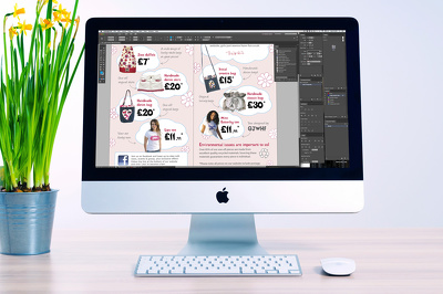 Spend 1 hour making any type of amends to your print job in Adobe Indesign/Photoshop
